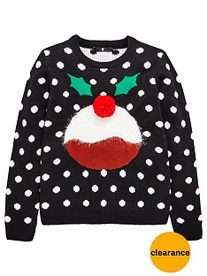 v-by-very-girls-christmas-pudding-jumper