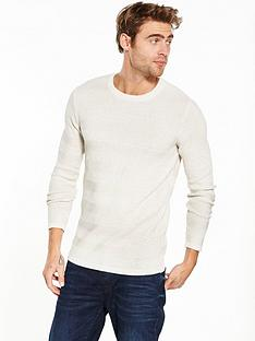 selected-homme-textured-crew-neck-jumper