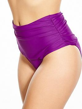 Pour Moi Instaglam High Waist Bikini Brief - Purple