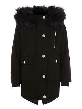 river-island-girls-black-faux-fur-trim-hooded-parka