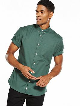 river-island-short-sleeve-muscle-fit-oxford-shirt