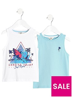 river-island-mini-boys-white-print-vest-multipack