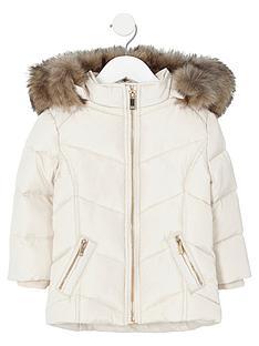 river-island-mini-girls-cream-faux-fur-trim-padded-coat