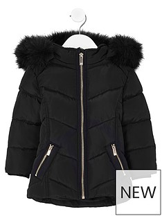 river-island-mini-girls-black-fur-trim-padded-coat