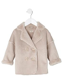 river-island-mini-girls-pink-faux-shearling-coat