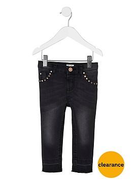 river-island-mini-girls-black-studded-amelie-skinny-jeans