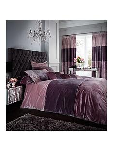 catherine-lansfield-velvet-bands-duvet-cover-set