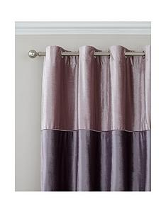 catherine-lansfield-velvet-bands-lined-eyelet-curtains