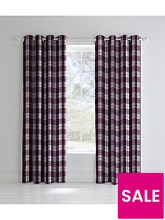catherine-lansfield-henley-check-lined-eyelet-curtains