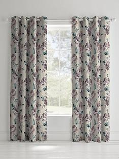 catherine-lansfield-painted-floral-linednbspeyelet-curtainsnbsp