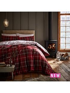 catherine-lansfield-brushed-tartan-duvet-cover-set