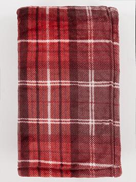 catherine-lansfield-red-tartan-throw