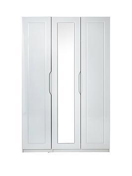 milan-3-door-high-gloss-mirrored-wardrobe