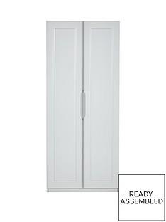 Milan 2 Door Ready Assembled High Gloss Wardrobe