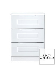 milan-ready-assembled-high-gloss-3-drawer-bedside-chest
