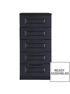 milan-ready-assembled-high-gloss-5-drawer-tall-boy