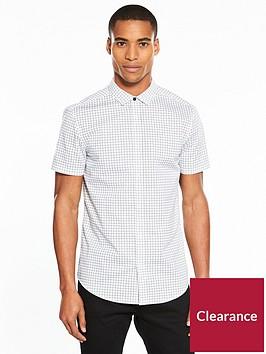 v-by-very-short-sleeve-mini-print-stretch-shirt-white
