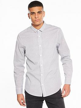v-by-very-long-sleeve-grid-printed-stretch-shirt-white