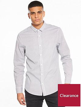 v-by-very-long-sleeve-grid-printed-stretch-shirt-white