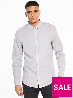 v-by-very-long-sleeve-grid-printed-stretch-shirt