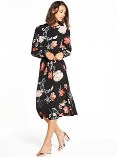 ax-paris-long-sleeve-printed-midi-dress