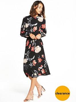 ax-paris-long-sleeve-printed-midi-dress