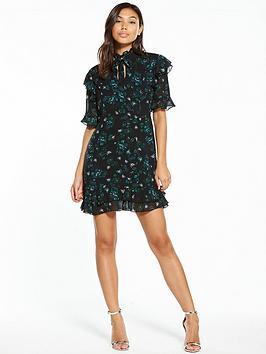 Fashion Union Orabella Keyhole Frill Dress