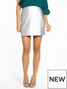 fashion-union-mel-silver-pu-skirt