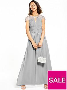 little-mistress-cap-sleeve-embellished-maxi-dress-grey
