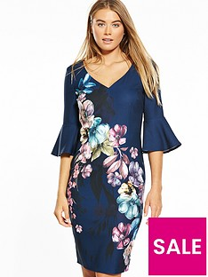 little-mistress-floral-placement-print-dress