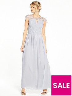 little-mistress-petite-cap-sleeve-embellished-maxi-dress-grey
