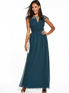 little-mistress-cap-sleeve-embellished-maxi-peacock