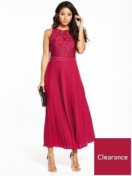 little-mistress-pleated-hem-midi-dress