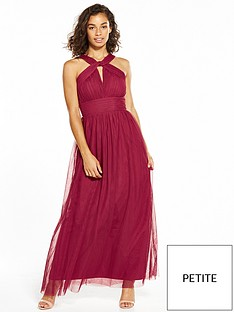 little-mistress-petite-mesh-maxi-dress-berry