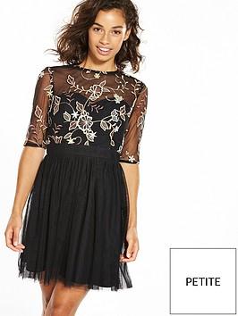 little-mistress-petite-mesh-mini-dress