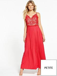 little-mistress-petite-pleated-maxi-dress-red