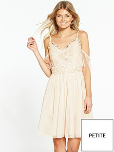 little-mistress-petite-cold-shoulder-dress-cream