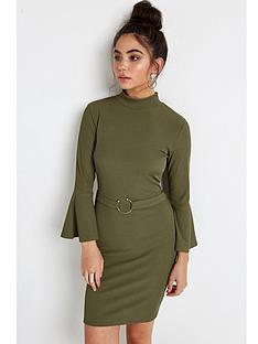 girls-on-film-girls-on-film-rib-flare-sleeve-bodycon-dress