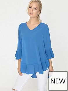 girls-on-film-flare-sleeve-and-ruffle-hem-oversized-top