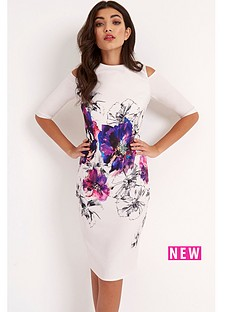 little-mistress-little-mistress-cold-shoulder-bodycon