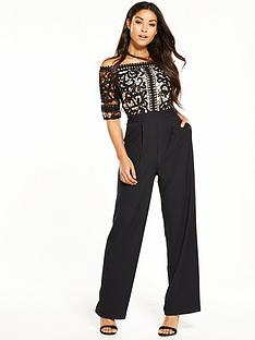 little-mistress-floral-crochet-jumpsuit-black