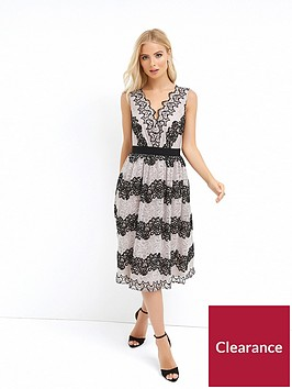 little-mistress-two-tone-lace-stripe-midi-dress