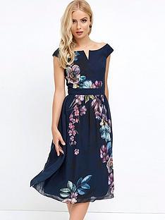 little-mistress-bardot-print-midi-dress