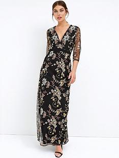 little-mistress-long-sleeve-lace-maxi-dress-black