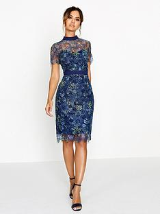 paper-dolls-printed-crochet-lace-high-neck-dress