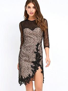 little-mistress-lace-wrap-mini-dress-black