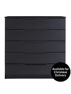Black Hi Gloss Chest Of Drawers Home Garden Wwwverycouk - Black gloss chest of drawers