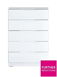 monaco-high-gloss-ready-assembled-5-drawer-chest