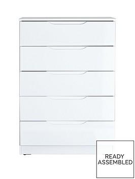 monaco-high-gloss-ready-assembled-5-drawer-chest