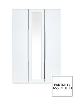 monaco-part-assembled-high-gloss-3-door-mirrored-wardrobe